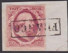 NVPH   2 Koning Willem 3 gebruikt op briefstukje Cataloguswaarde 35.00 E-4626