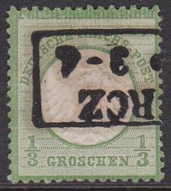 Mi    2 Freimarken: Adler mit kleinem brustschild Gebruikt / Used Cataloguswaarde: 50,00 E-0901
