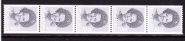 Rolzegel 1238R strip van 5 Postfris E-3161