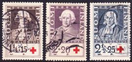 Finland 1935: Michel 188-190 Gebruikt