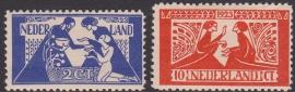 NVPH   134-135 Tooropzegels Ongebruikt  Cataloguswaarde 45.00  E-4676