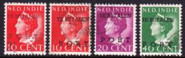 NVPH P49-P52 Hulp-portzegels Gebruikt cataloguswaarde: 67.50