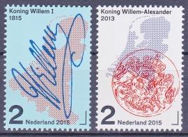 NVPH 3273-3274 200 jaar Koninkrijk Nederlanden 2015 Postfris  ''volgens Davo''A-0516
