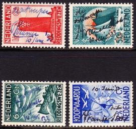 NVPH  257/260 Zeemanszegels met HANDTEKENING ONTWERPERS Ongebruikt  ZELDZAAM  E-2092