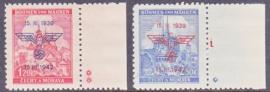 Böhmen und Mähren Mi: 83+84 Postfris / MNH met randstukken en plaatsterren E-7984