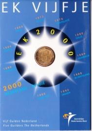 Set EK vijfje 2000 Nederland-Belgie Koninklijke Ned. Munt