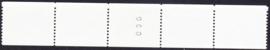 NVPH 1238A Compleet foutieve rolzegels in strip van 5