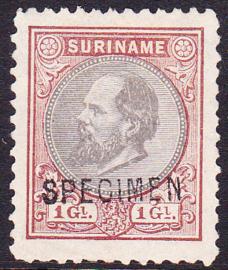NVPH 14 Koning Willem III met opdruk SPECIMEN Cataloguswaarde 160.00