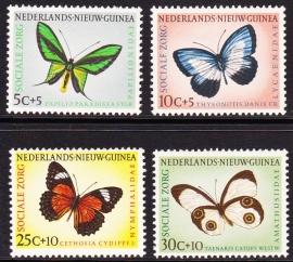 NVPH 63-66 Sociale Zorg ''Vlinders'' Postfris cataloguswaarde 6,00 E-2233