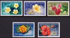 NVPH  248-252 Kinderpostzegels 1955 '' bloemen'' Postfris cataloguswaarde: 28.50  E-8736