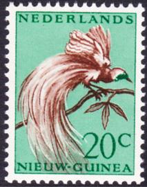 Plaatfout Ned. Nieuw Guinea 29 P1 Postfris