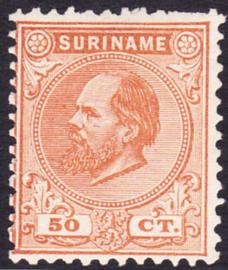 NVPH 13D Kamtanding 11,5 X 12 Koning Willem III Ongebruikt Cataloguswaarde 225,00
