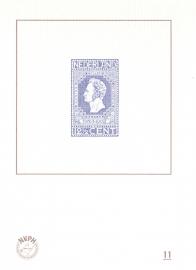 NVPH BD11 Blauwdruk  2014 Cataloguswaarde 5,00