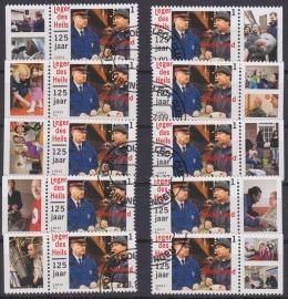 NVPH 2909 ''Leger des Heils 125 jaar'' 10 stuks met alle verschillende TABS 2012  Gestempeld cataloguswaarde 6,00 A-0785