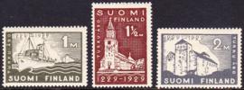 Finland 1929: Michel 140-142 Ongebruikt