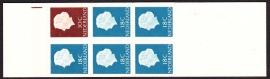 Postzegelboekje  3Yw  Registerstreep, bruin  LuXe Postfris  Cataloguswaarde 8.00 A-0351