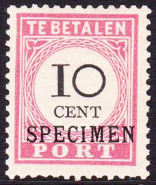 Nederlands-Indië   NVPH P16 type 3 Ongebruikt met de volle gom en opdruk SPECIMEN