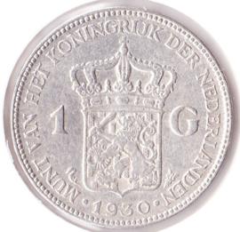 Nederland 1 gulden Zilver 1930 Koningin Wilhelmina ZF-