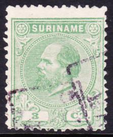 NVPH 4D Kamtanding 11,5 X 12 Koning Willem III Gebruikt Cataloguswaarde 65,00