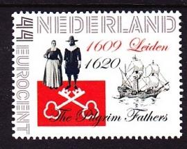 Persoonlijke Postzegel: The Pilgrim Fathers Leiden Postfris E0990