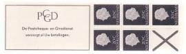 Postzegelboekje  6C + Poot links boven breed(B)  Postfris  Cataloguswaarde 45,00++  A-1022