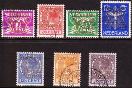 NVPH  D9-15 Dienstzegels gebruikt Cataloguswaarde 62.50