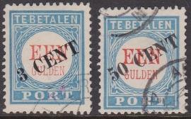 Port P27-28 Overdruk van de 1 gulden Gebruikt cataloguswaarde 195.00 E-3972
