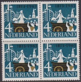 Plaatfout  807 PM1  Postfris in blok van 4  Cataloguswaarde 7,00  E-4691