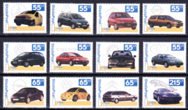 Stadspost, complete serie van 12 auto's Postfris E-0273