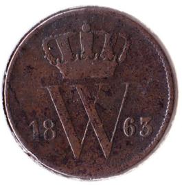 Nederland 1 cent 1863 F/ZF