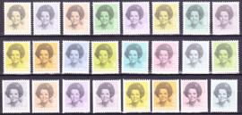 NVPH  1237-1252 + 1238A-1251A Complete set Beatrix  Postfris
