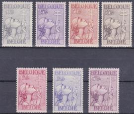 OBP   377-383 Tuberculose bestrijding 1933 Ongebruikt / MH Cataloguswaarde: 265,00 E-2828