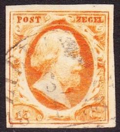 NVPH   3  Koning Willem 3 gebruikt Cataloguswaarde 170.00 E-2351