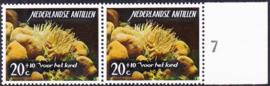 Ned. Antillen plaatfout 367 PM Postfris in paar