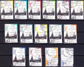 NVPH D44 - D58 Dienstzegels Gestempeld cataloguswaarde 17,00