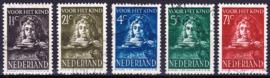 NVPH  397-401 Kinderpostzegels 1941 ''Rembrandt's zoon Titus'' gebruikt