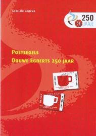 Herinneringsmapje:  250 jarig bestaan Douwe Egberts inc postfris vel