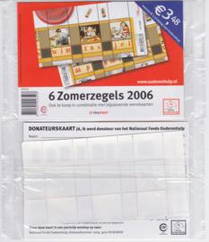 NVPH 2417-2418 POSTFRIS 2 X BLOK ZOMERZEGELS 2006 IN TOONBANKVERPAKKING SCHAARS !! A-0781