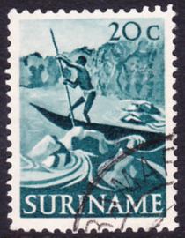 Plaatfout Suriname 306 P  gebruikt