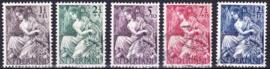 NVPH  449-453 Nationale-hulpzegels 1946 gebruikt