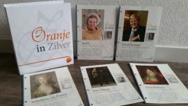 Complete collectie Persoonlijke Zilveren postzegels Oranje in Zilver 24 stuks