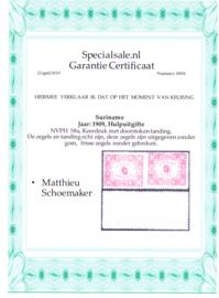 NVPH 58A keerdruk tete-beche paar. cataloguswaarde 225,00