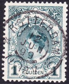 NVPH   49 Kroningsgulden gebruikt Grootrond ''Rotterdam 12-juni-99'' Cataloguswaarde 150.00
