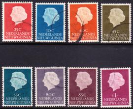 NVPH 30-37  Koningin Juliana gestempeld