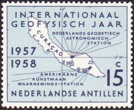 NVPH  270 ''Internationaal Geofysisch jaar'' 1957 Postfris cataloguswaarde: 1,00