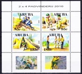 NVPH  440-443 10 jaar Scouting Aruba Postfris  2010 E-0635