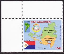 NVPH    1 Wapen vlag en landkaart Postfris  E-1843