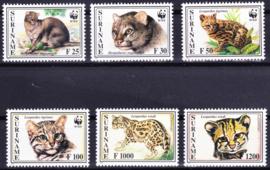ZNB  844-849 Bedreigde dieren ''katachtigen / tijgers'' WWF 1995 Cataloguswaarde 35,00