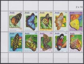 NVPH  500-509 Vlinders Postfris  2010 A-0884
