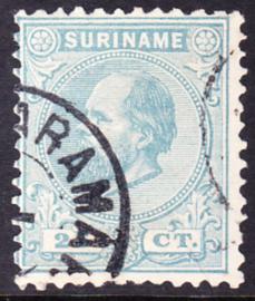 NVPH 10D Kamtanding 11,5 X 12 Koning Willem III Gebruikt Cataloguswaarde 25,00